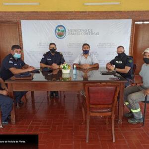Las principales autoridades policiales de Flores visitan nuestra localidad